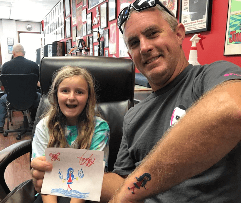 Dad and Daughter Tattoo Time