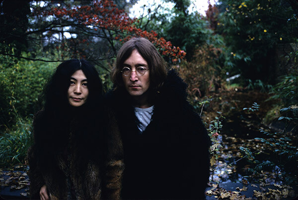 Lennon and Ono Outdoors