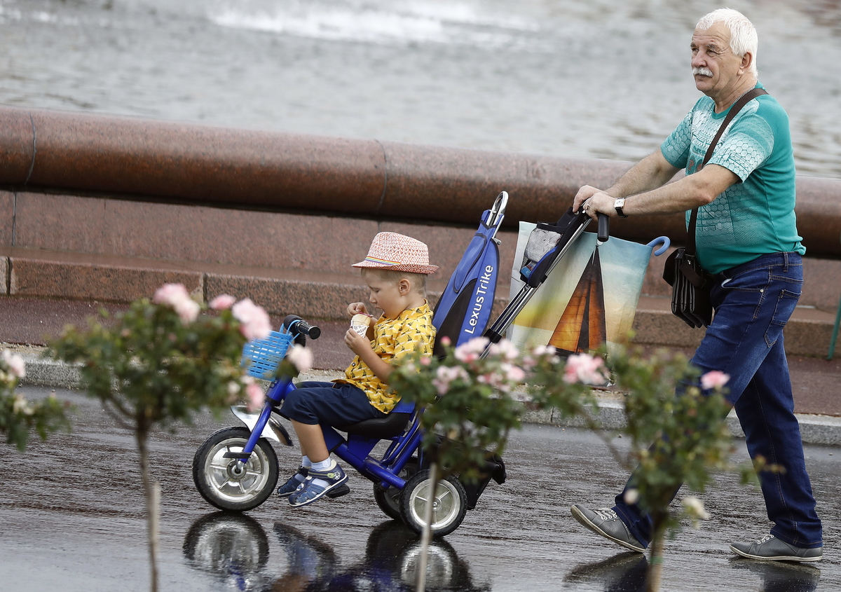 Pensioners in Moscow