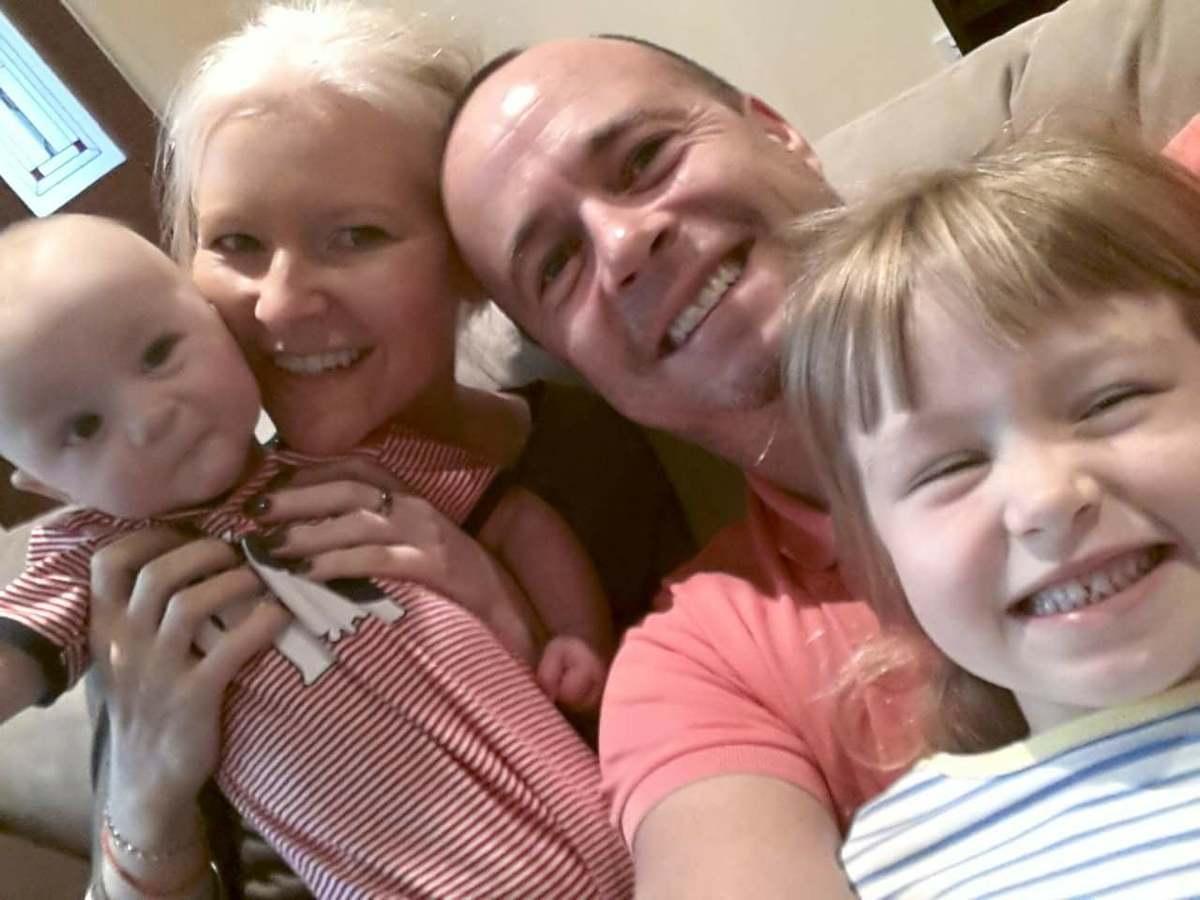 a martin family selfie
