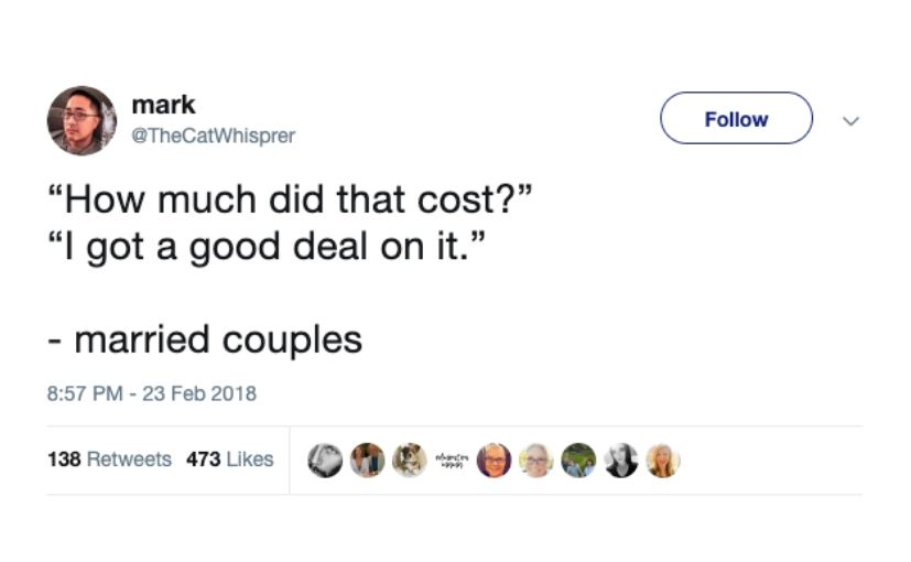 it was a good deal = marriage
