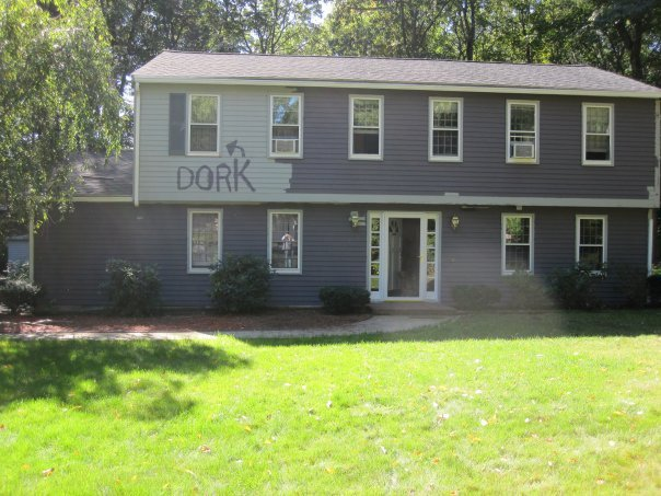 Dork house painted by parents