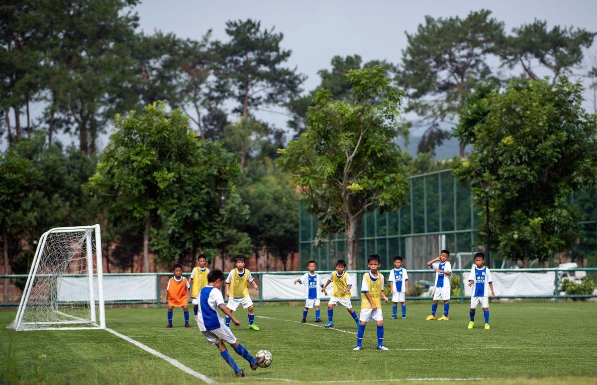 soccer practice in Guangzhou