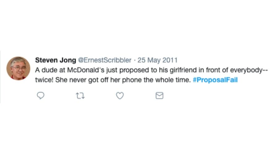 mcdonalds proposal tweet