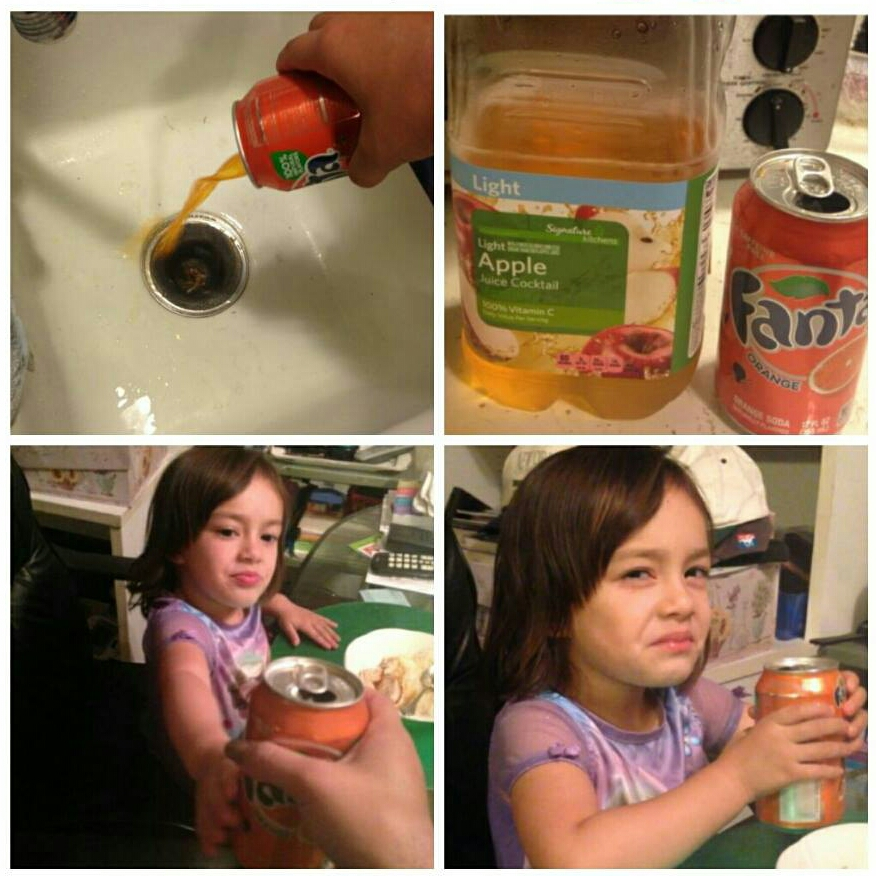 fanta apple juice switching trick