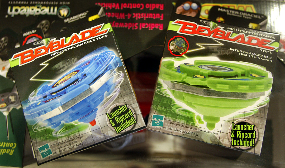 beyblades in packaging from 2002