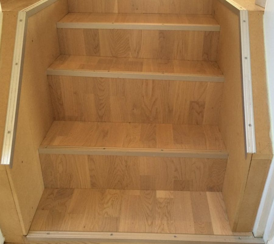 bad stairs slanted uneven weird design