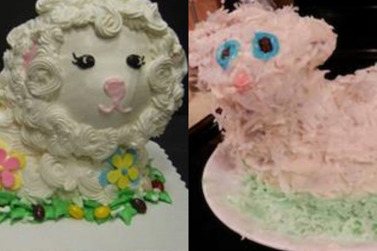 little lamb cake diy version looks awful
