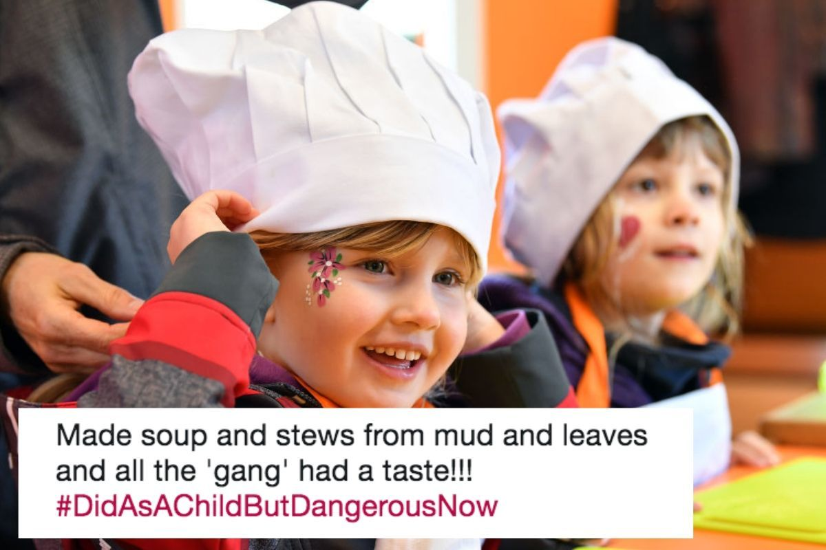 Smiling Children with Chef Hats