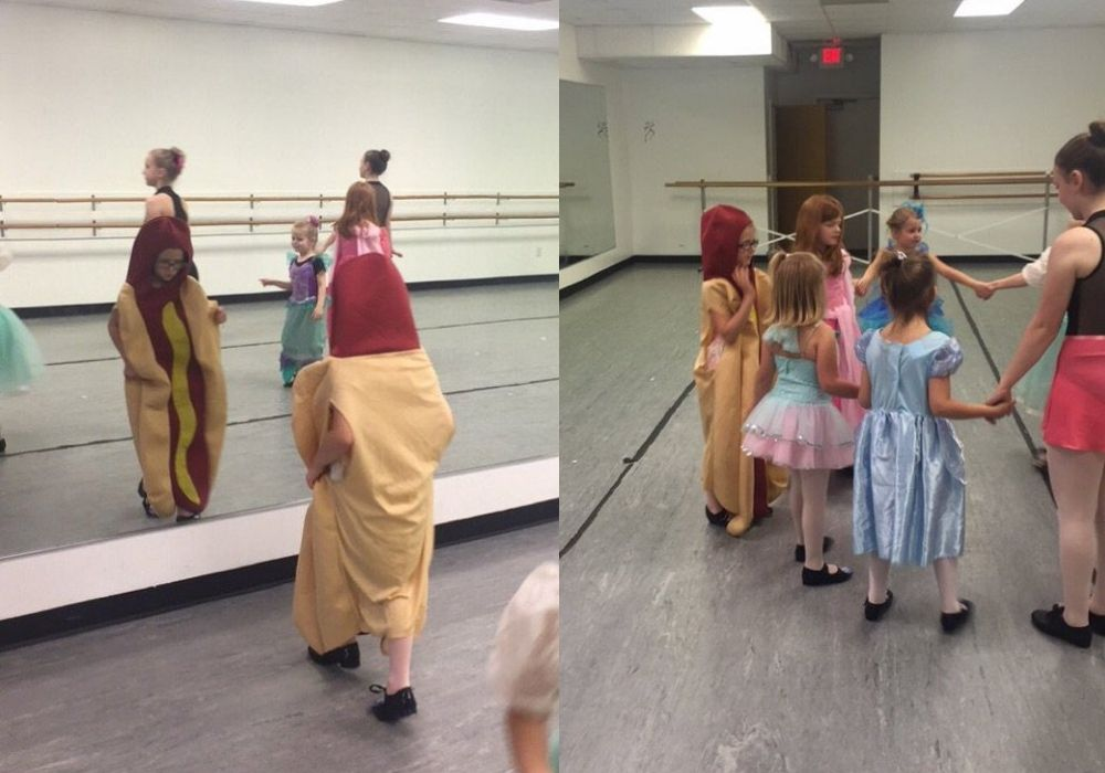 hot dog at dance class on princess day