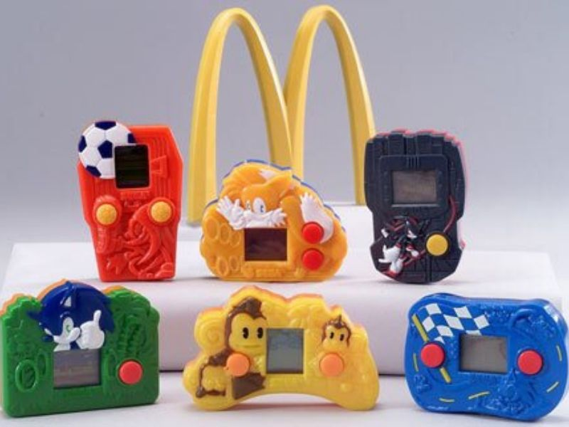 mcdonalds happy meal video games sonic etc.