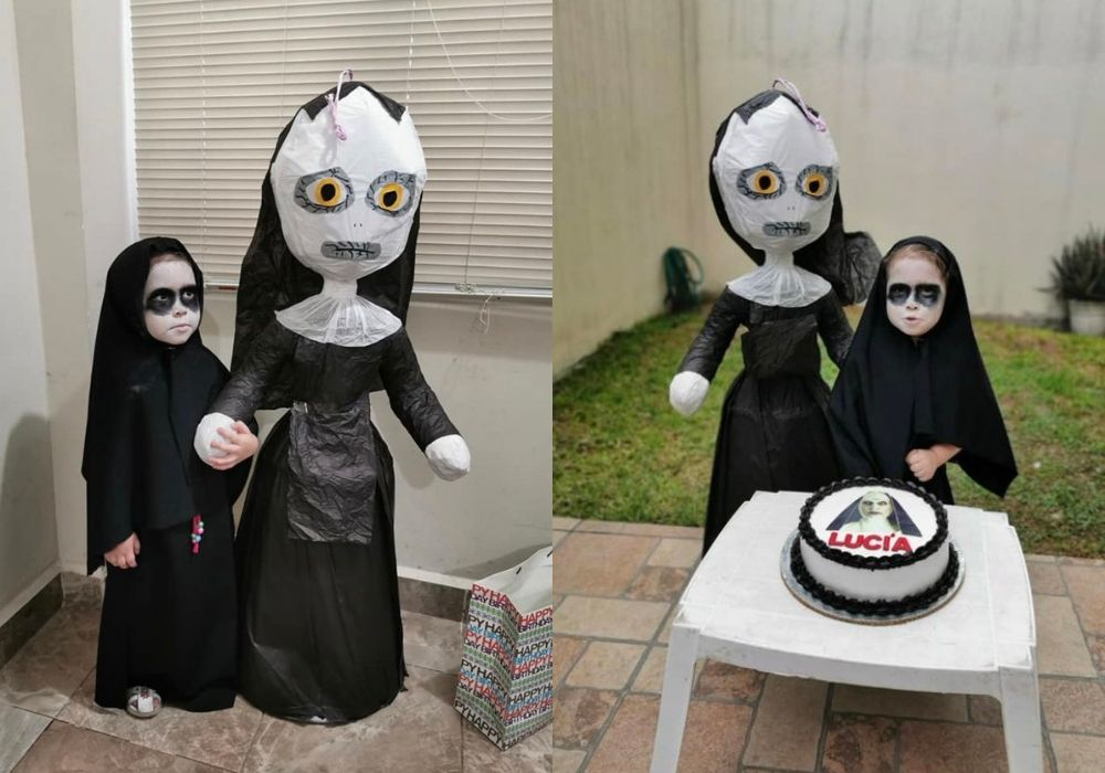 nun-themed bday for 3 year old