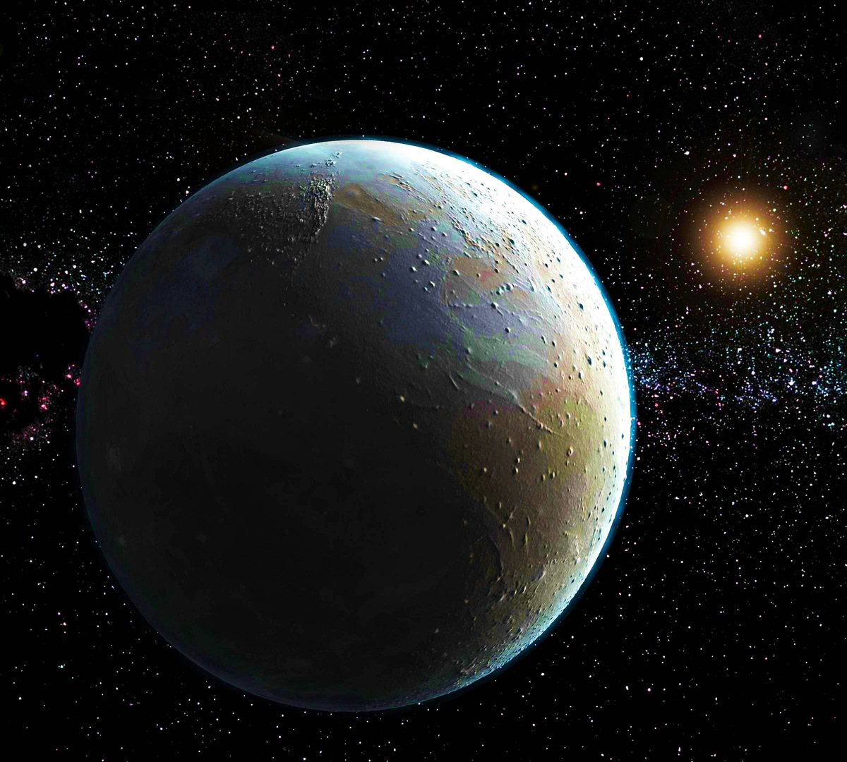artist's impression of Pluto based on 2015 Nasa image
