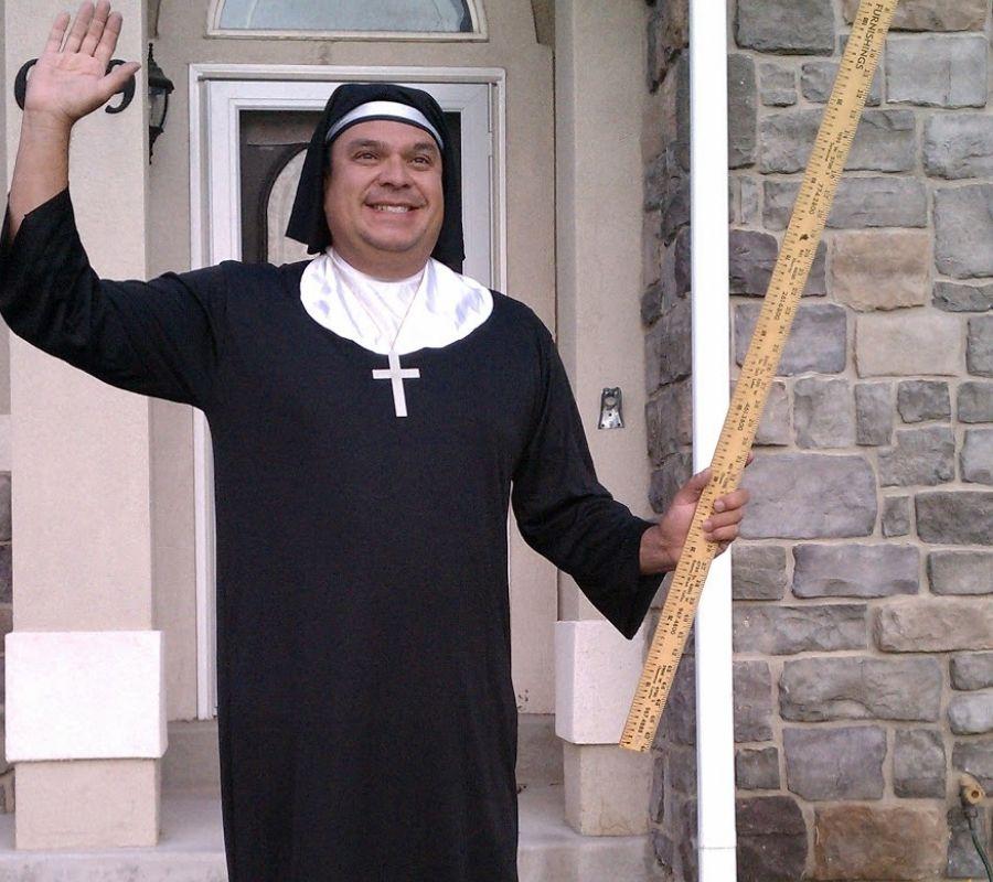 guy dressed as a nun