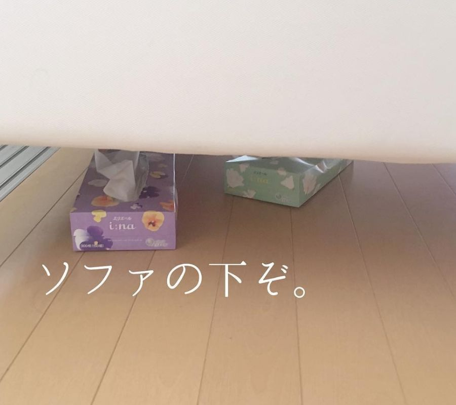 tissues under the bed