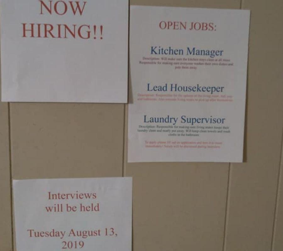 job fair mom paper post