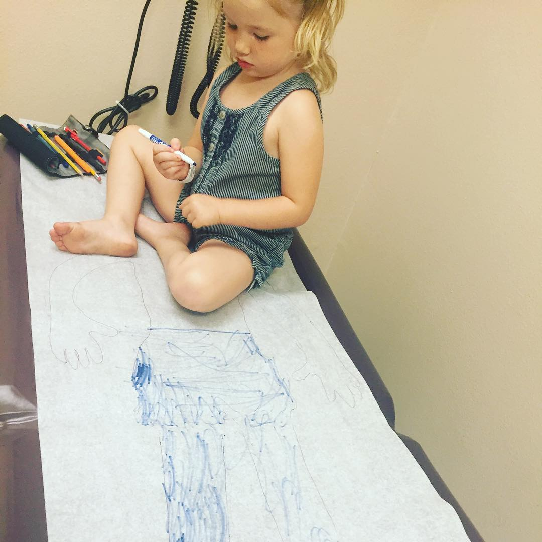 drawing at the doctor's