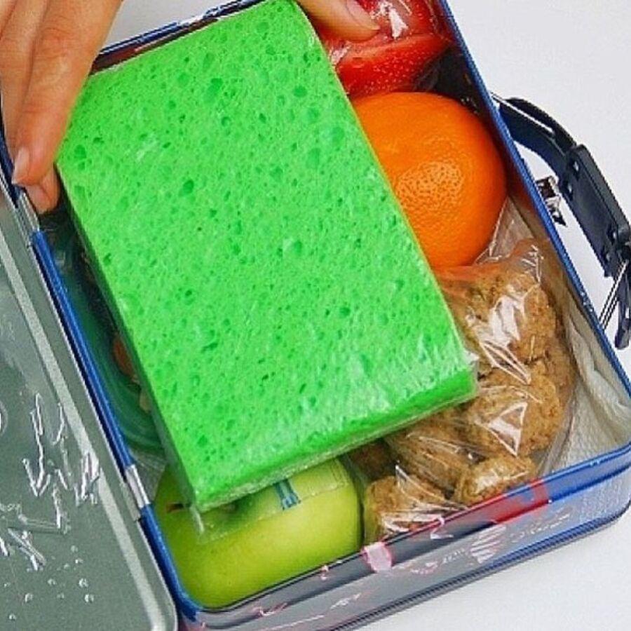 makeshift sponge icepack