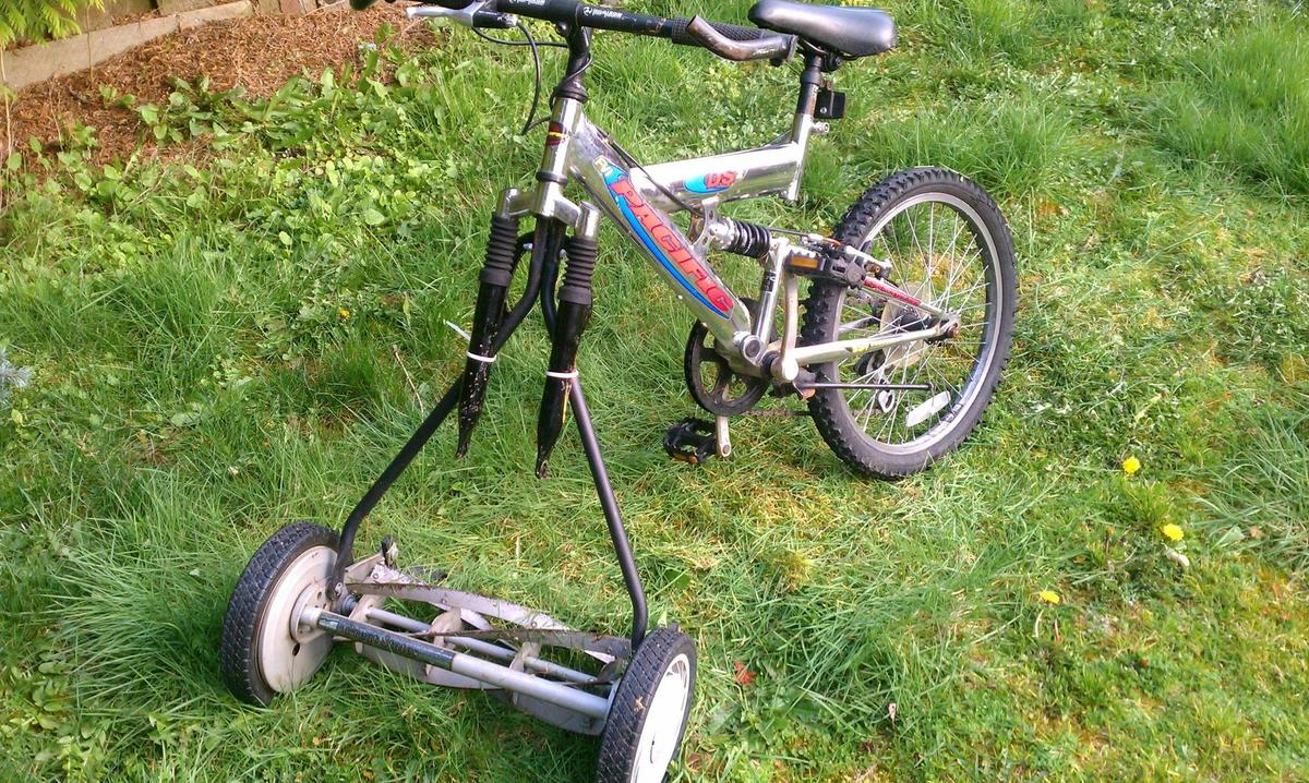 kid who melded a bike with a lawn mower