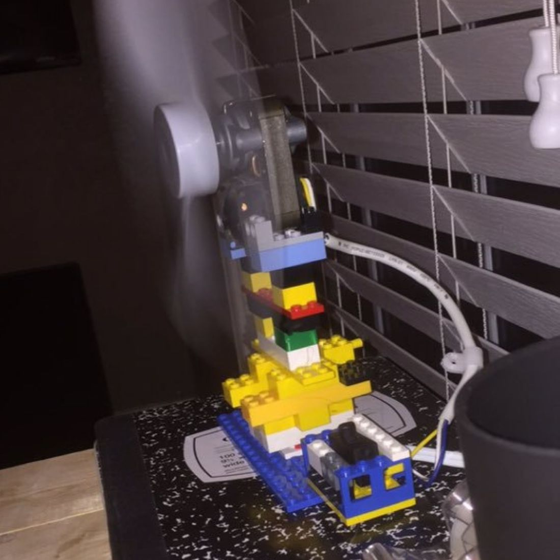 kid built a working fan out of lego