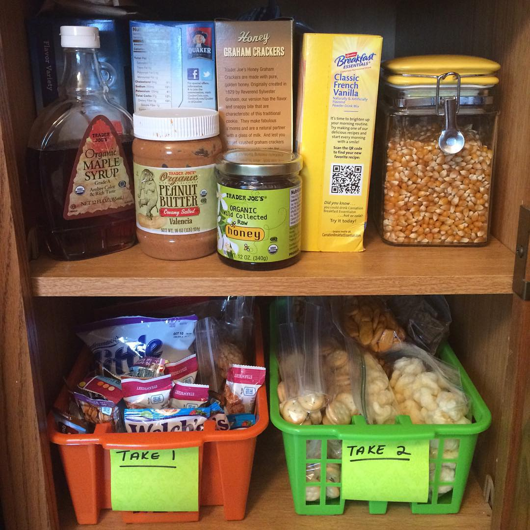 snack bins help with lunches too