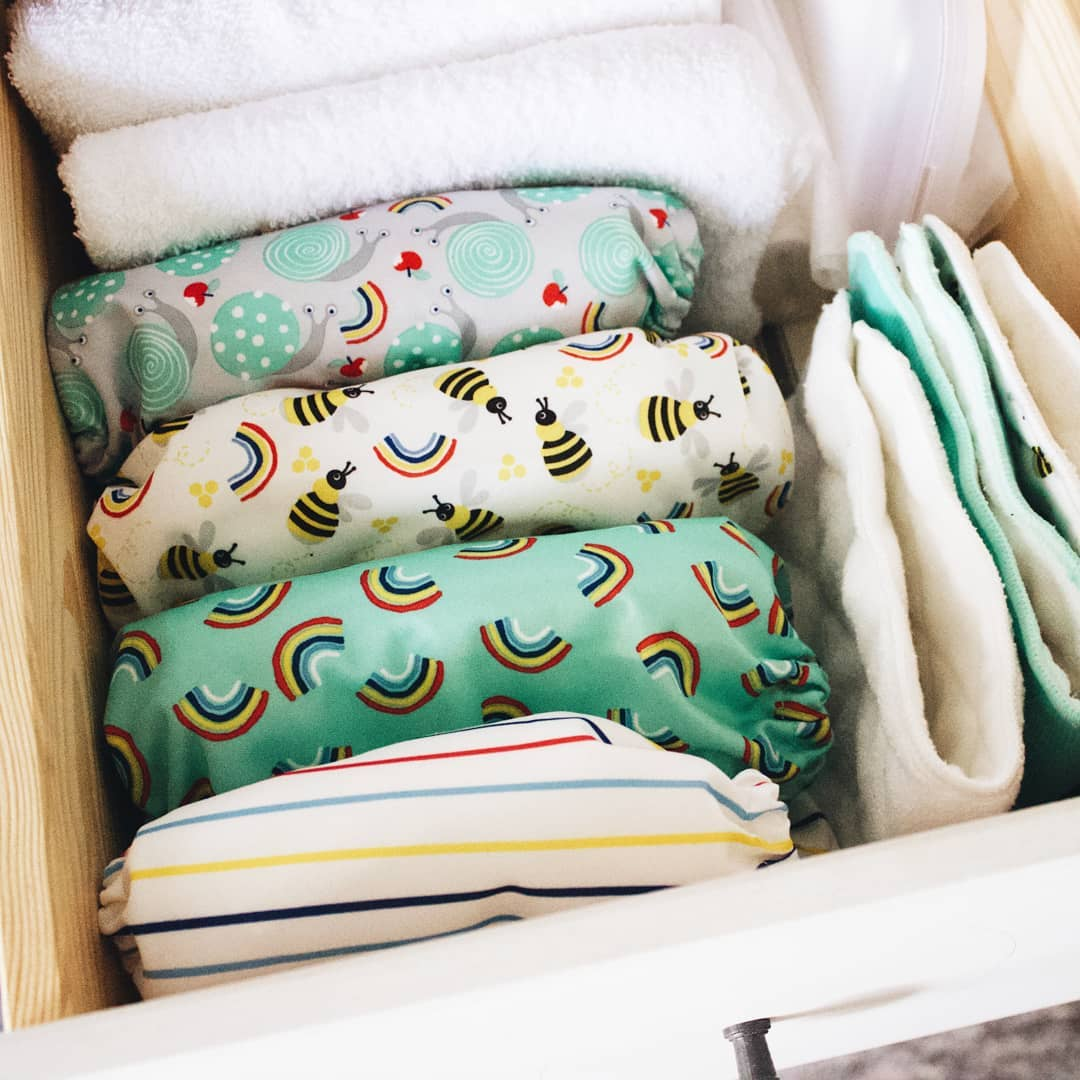 patterned cloth diapers