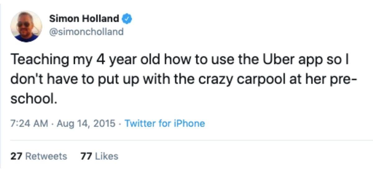 4 year old uber tweet