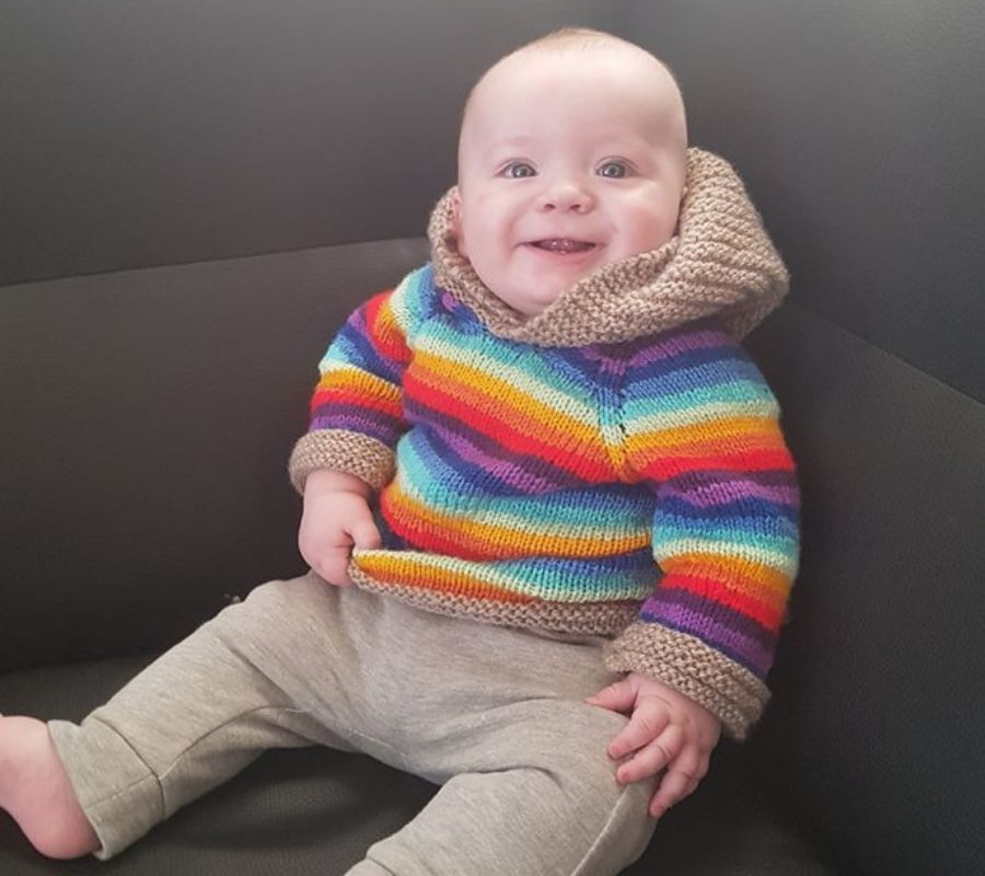 baby in sweater