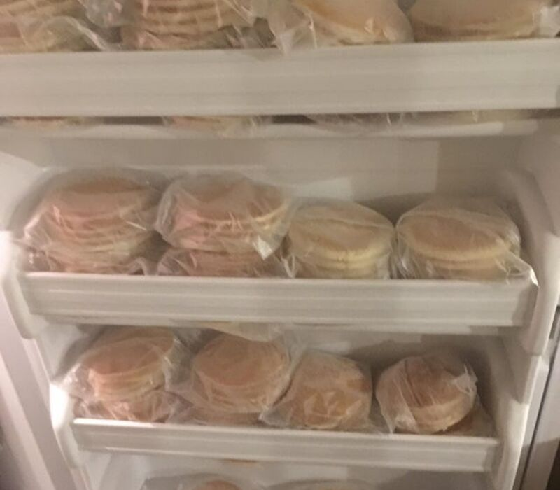 pancakes in freezer
