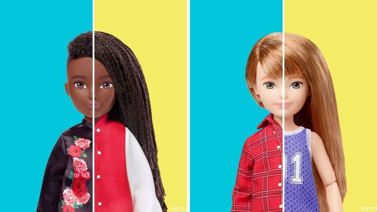 Two dolls from the Creatable World doll line can be seen with the customizable options.