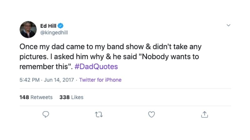 dads are too good tweet #1