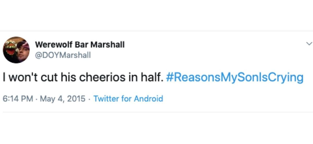 cut cheerios inhalf tweets