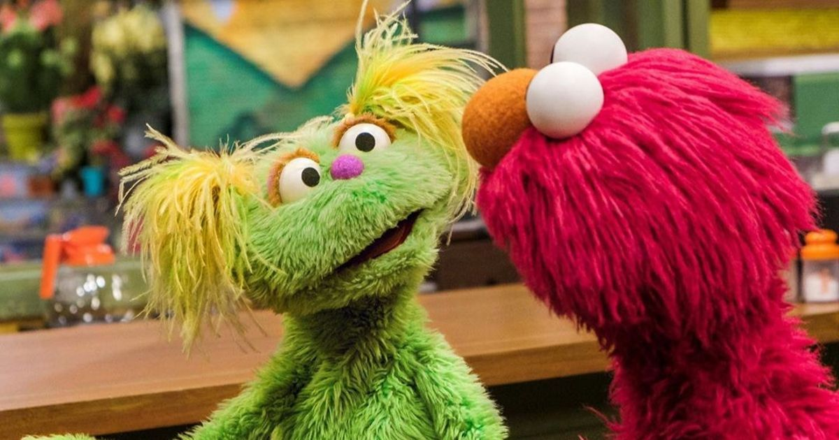 New muppet Karli talks to Elmo on 'Sesame Street'