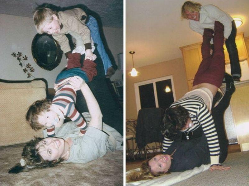 recreation two family photo