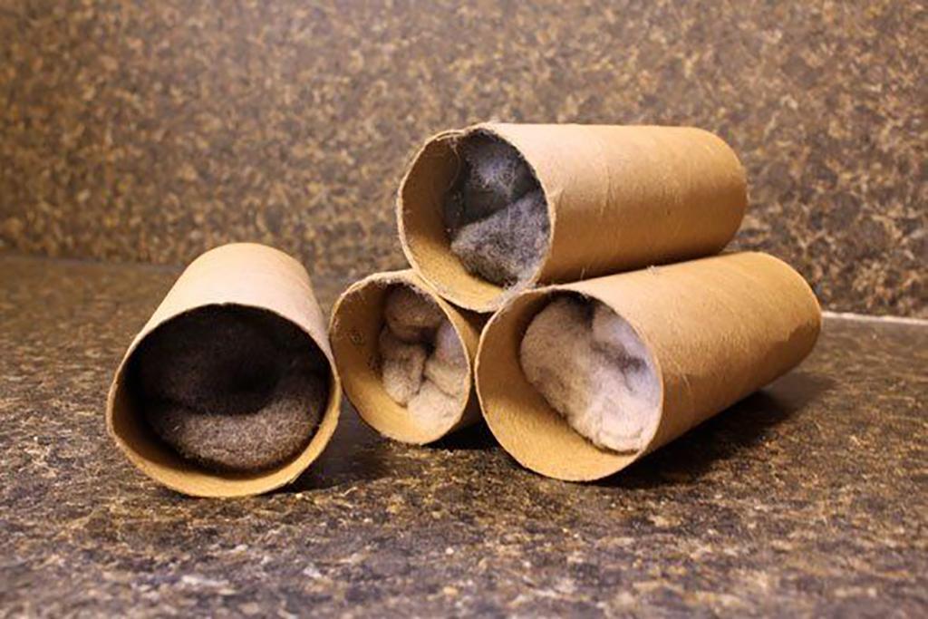 Dryer sheet in toilet roll