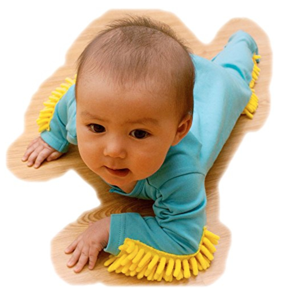 baby crawling in product
