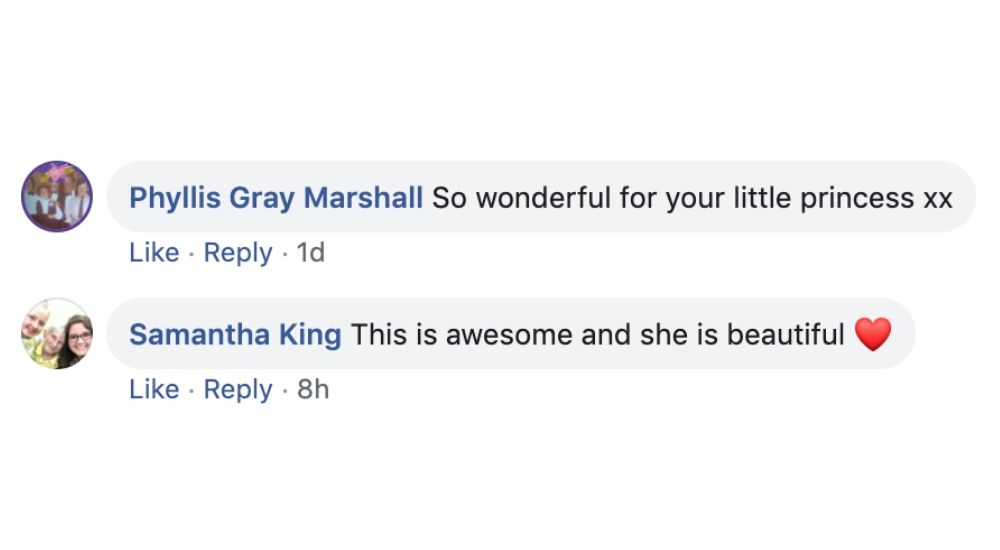 comments on post saying ava is beautiful and the costume is awesome