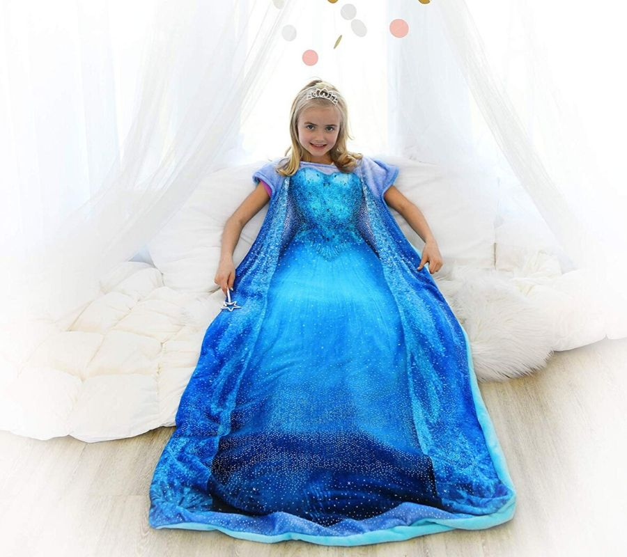princess costume and blanket
