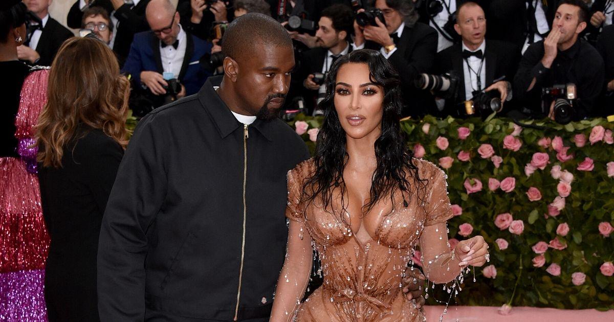 Kayne West and Kim Kardashian attend the 2019 Met Gala