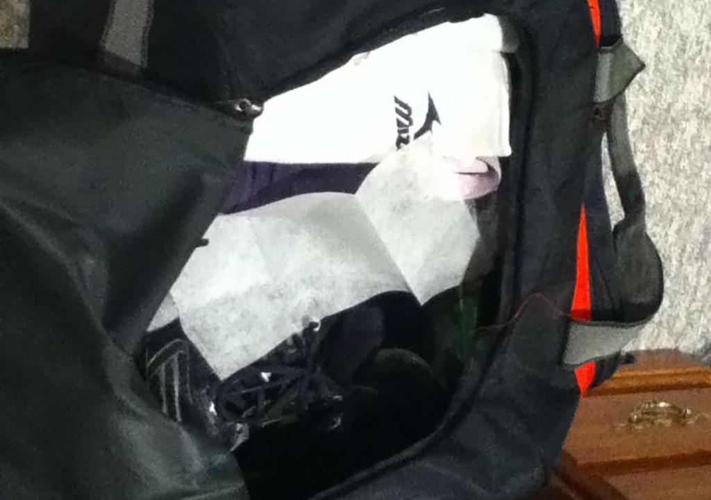 Dryer sheet in gym bag