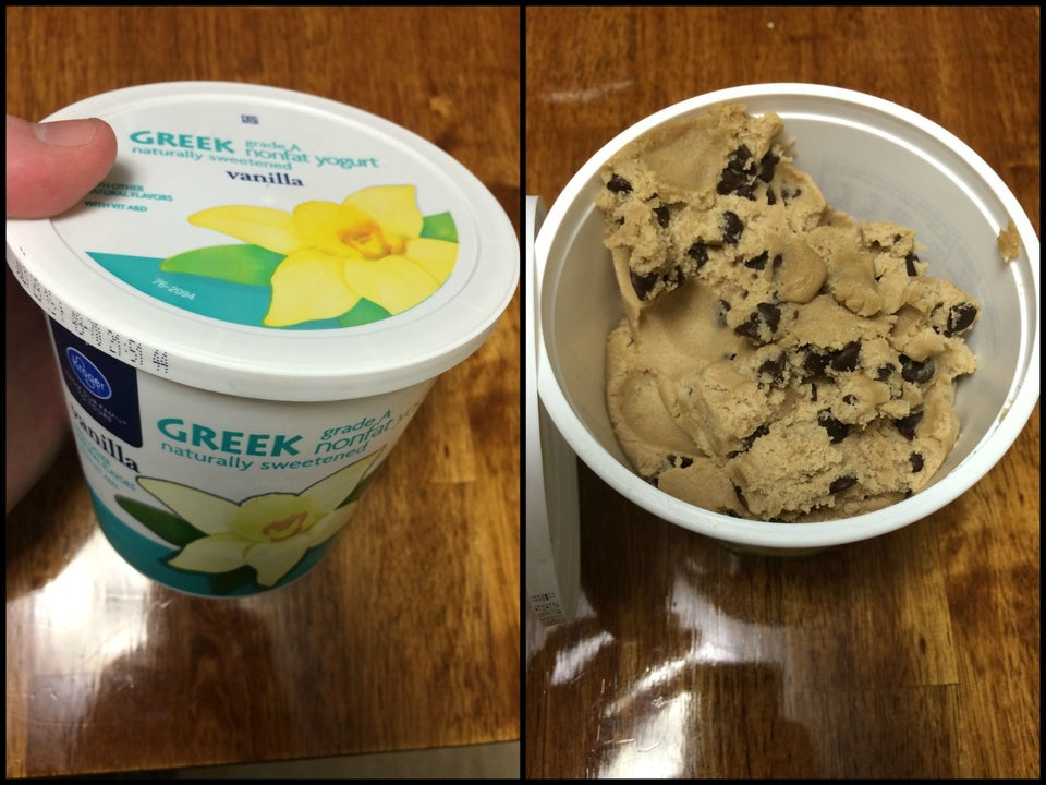 hiding cookie dough in a container you know your spouse doesn't open