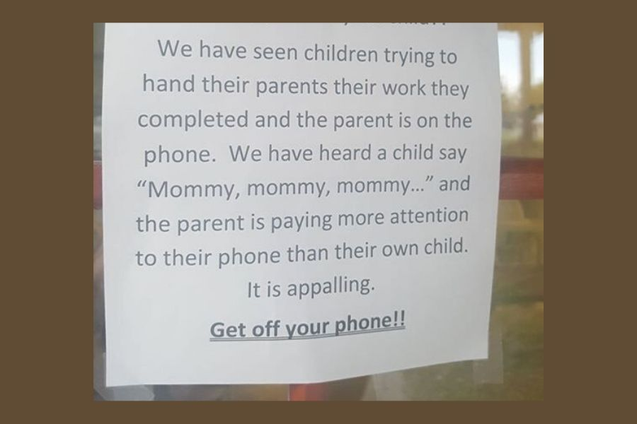 pay attention to your child sign at day care