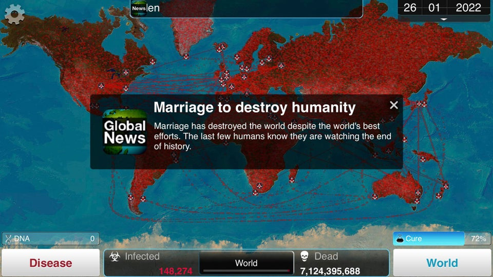 marriage set to destroy humanity
