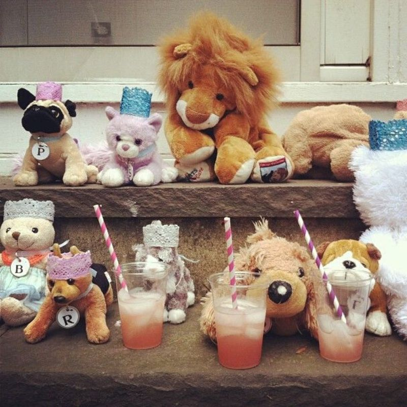 throwing a party for stuffed animals