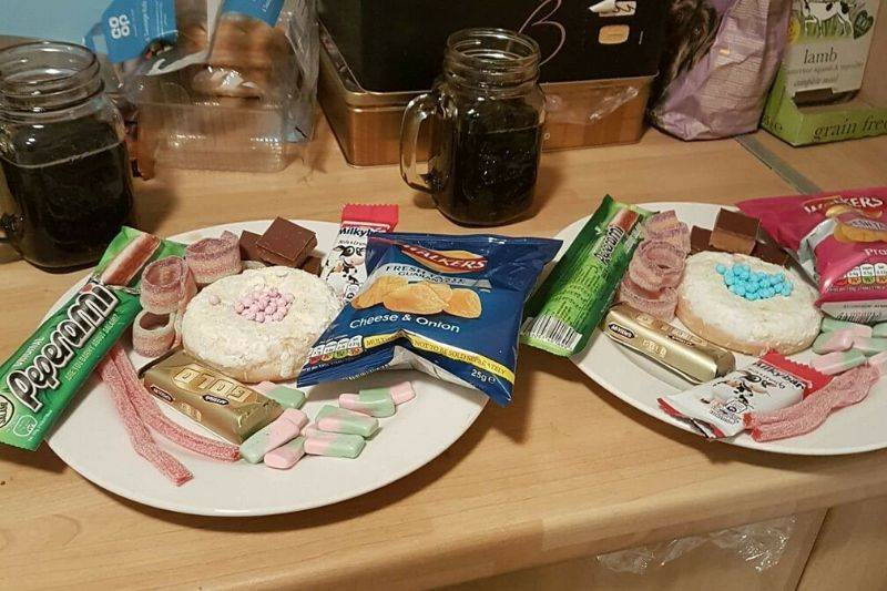a day got a ton of candy for tea time