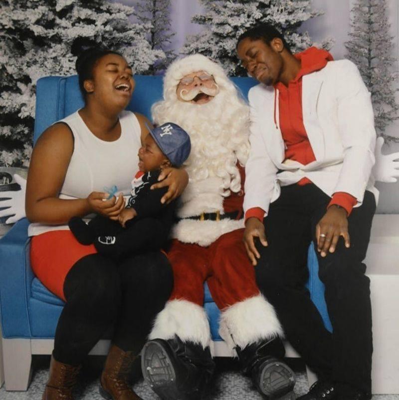 everyone crying on Santa's lap