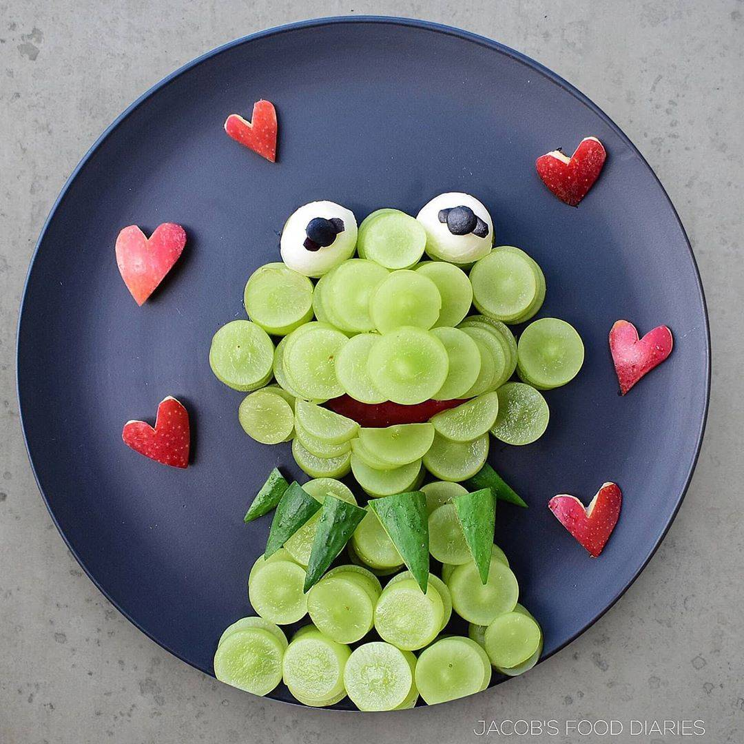 kermit the frog made out of grapes