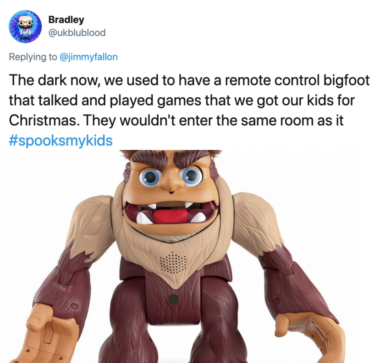 same room as bigfoot