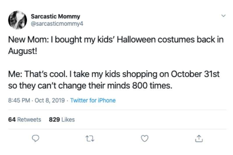 buying halloween costumes on october 31