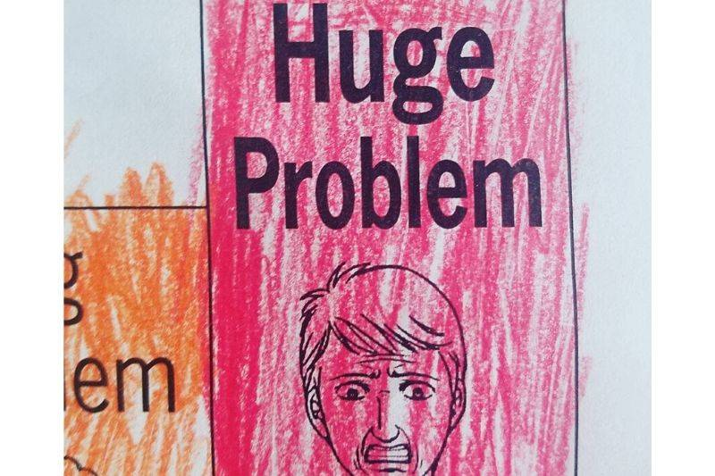 huge problem colored in